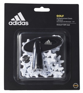 adidas Thintech Clamshel golf spikes 3,5 mm wit 20 stuks