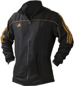 adidas training jacket Team Track black / orange