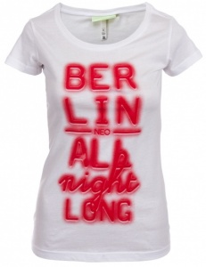 adidas NEO City T-Shirt Dames Wit Met Rood Berlin