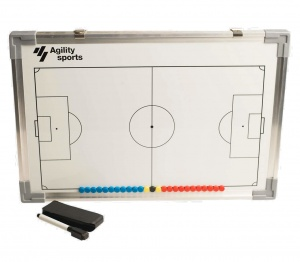 Agility Sports coachbord voetbal magnetisch 45 cm wit