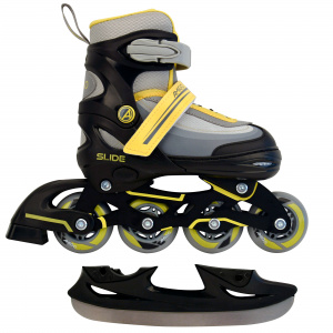 AMIGO patins 2-in-1 Slide junior polypropylène noir/jaune