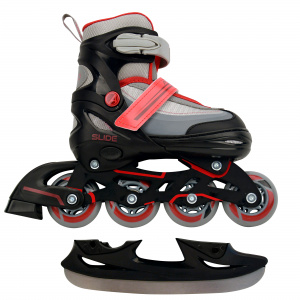 AMIGO patins 2-in-1 Slide junior polypropylène noir/rouge