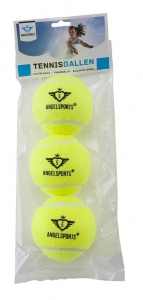 Angel Sports 3 Tennisballen in Zak