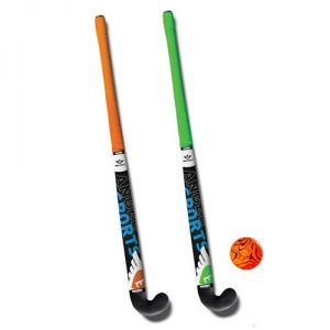 Angel Sports hockeyset 3-delig groen/oranje 30 inch