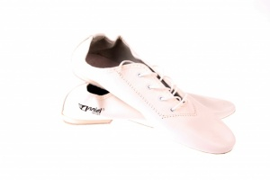 ab5874a914fa Anniel Turn Jazz White Leather Shoes Ritmo