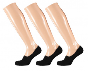 Apollo no-Show-Socken Basic bamboo schwarz 3er-Pack