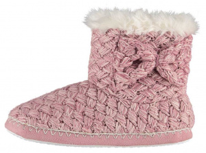 Apollo slippers knitted ladies elastomer/textile pink