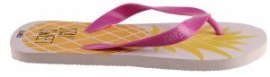 Arditex teenslipper Zaska! Pineapple wit/roze