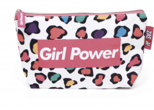 Arditex toiletry bag / pouch Girl Power girls 25 cm PE pink / white