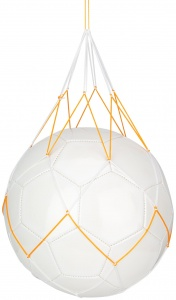 Avento ball net for 1 ball white/orange