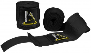 Avento boxing straps 250 cm black cotton per 2 pieces
