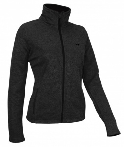Avento Outdoorjack Fleece Dames Zwart/Grijs