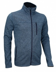 Avento Outdoorjack Fleece Heren Donkerblauw/Zwart