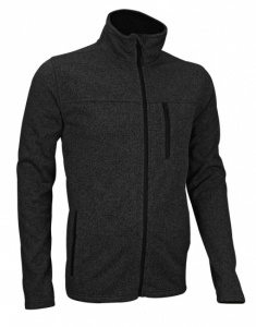 Avento Outdoorjack Fleece Heren Donkergrijs/Zwart