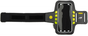 Avento sports bracelet LED Agda polyester black one-size