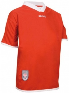 Avento Sports Short Sleeve Shirt Junior Red