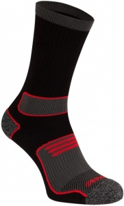Avento Men's sports socks 2-pack black / red