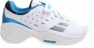 Babolat tennis shoes Pulsion boys white / blue