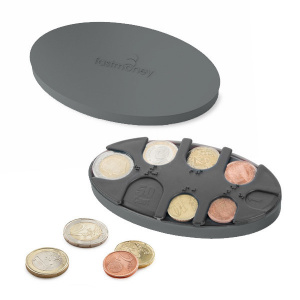 Balvi coin holder Fast Money 6,2 x 11,3 cm ABS grey
