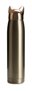 Balvi thermos Catflask ladies 320 ml stainless steel gold