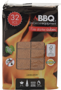 BBQ firelighters wood 32 pieces