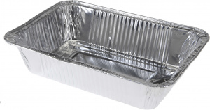 BBQ preparation trays 22 x 15,5 cm aluminium silver 5 pieces