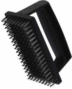 BBQ brush for barbecue cleaning 12 x 7 cm black