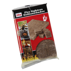 BBQ Collection firelighters brown 28 pieces