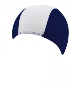 Beco bathing cap striped junior textile dark blue/white one size