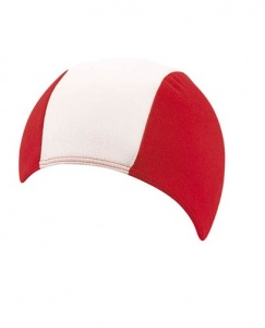 Beco bathing cap striped junior textile red/white one size