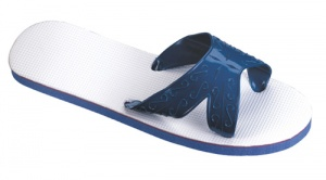 Beco badslippers X-band blauw/wit