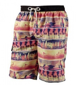 Beco swimming trunks men polyester pink/yellow