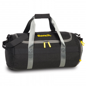 Bench travel/sports bag 47 x 26 x 26 cm polyester/artificial leather dark grey