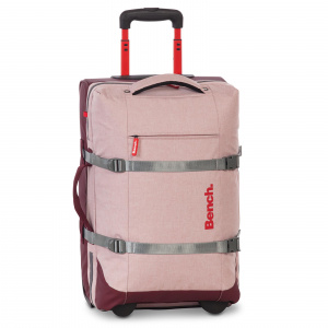 Bench travel bag 35 x 54 x 23 cm polyester/artificial leather pink