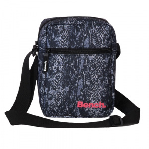 Bench shoulder bag snake print 24 cm 3 L polyester black