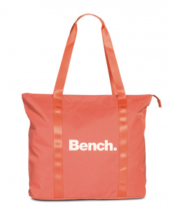 Bench shopper 24 liter 43 x 40 x 14 cm polyester koraalrood