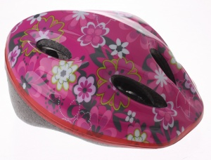 Bicycle Gear Helm junior bloem maat 48/56 cm roze