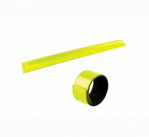 4-Act Sécurité Slap Wrap Bracelet Jaune 40 cm