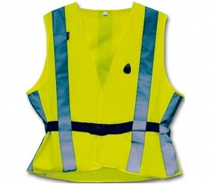 4-Act Safety vest 7 Stripes Junior Yellow