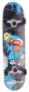 Black 8 Hole Skateboard Graffity SKB 31'' junior zwart