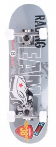 Black 8 Hole Skateboard Racing SKB 28'' junior grijs