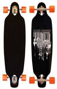 Black Dragon Longboard 36 Inch Drop-Trough Jungle Fever ZW.