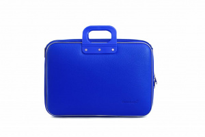 Bombata sac pour ordinateur portable Business 38 x 29 cm cuir artificiel bleu