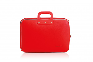 Bombata business laptop bag 38 x 29 cm artificial leather red