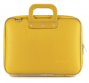 Bombata laptop bag Classic 38 x 29 cm artificial leather yellow