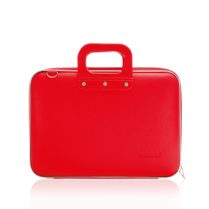 Bombata laptop bag Classic 38 x 29 cm artificial leather red