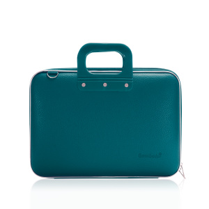 Bombata classic laptop bag 46.5 x 35 cm artificial leather turquoise