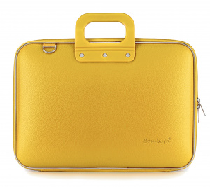 Bombata laptop bag Classic 43 x 33 cm artificial leather yellow