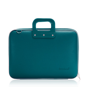 Bombata laptop bag Classic 43 x 33 cm artificial leather turquoise