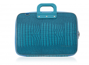 Bombata laptop bag Cocco 43 x 33 cm artificial leather turquoise